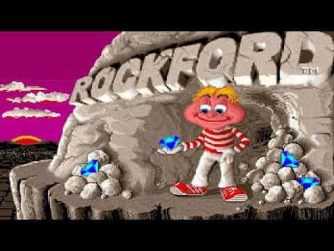 Rockford - 1987 PC Game, introduction and gameplay