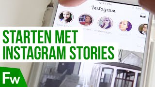 Starten met Instagram Stories in 1 minuut  | Frankwatching