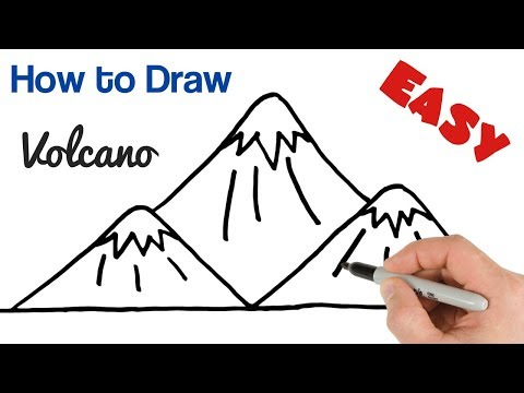 how-to-draw-volcano-mountains-super-easy-drawing