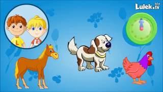 Pomyśl i kliknij * Odgłosy zwierząt domowych * Gra dla dzieci - cz.1