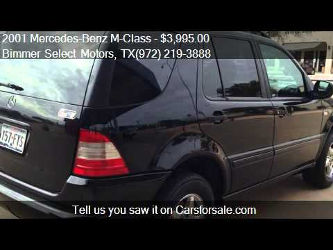 2001 Mercedes-Benz M-Class ML320 - for sale in Lewisville, T