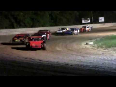 9 3 16 E mod heat race at Deerfield Raceway pit side