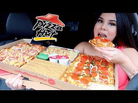 PIZZA HUT HUGE DINNER BOX MUKBANG!