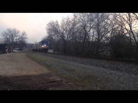 AMTK 19 @ Duluth,GA with a New Viewliner Diner Car and Extra Sleeper Car !!! - Part 1 of 22