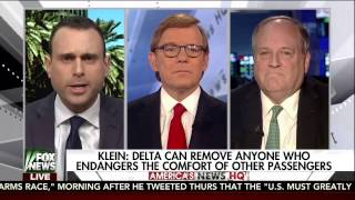 Nolan Klein on Fox News America's New HQ discussing removal of passenger from Delata flight