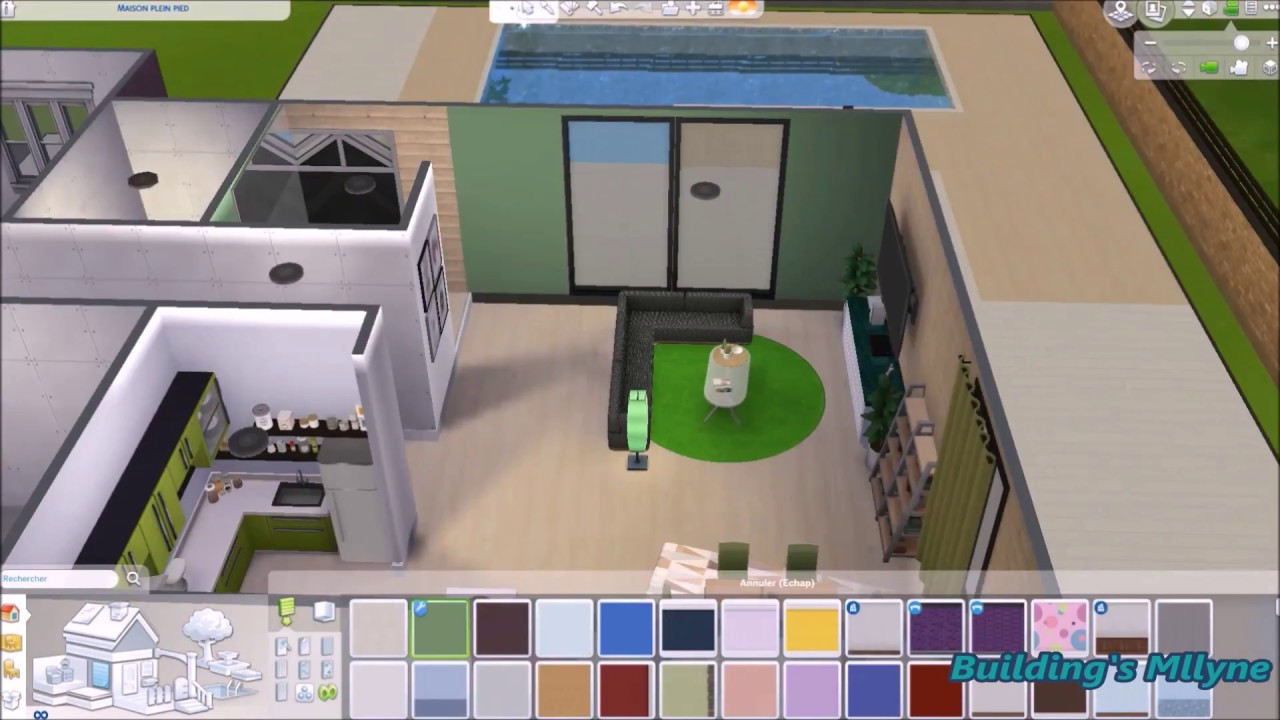 Decoration Sims 4 Maison Plein Pied 2 Speed Build Youtube