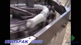 видео: Unospak 6000 - автоматическая установка для доставки бутылок на конвейер