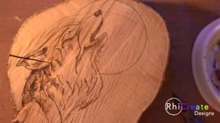 Pyrography (Wood Burning) Instinct - Speed Drawing