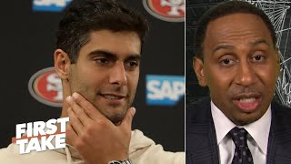 Stephen A. predicts the Rams will end the 49ers' unbeaten season | First Take