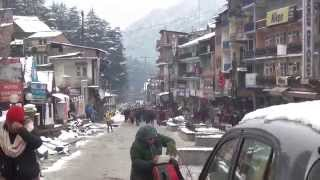 Manali Mall Road View after Snowfall