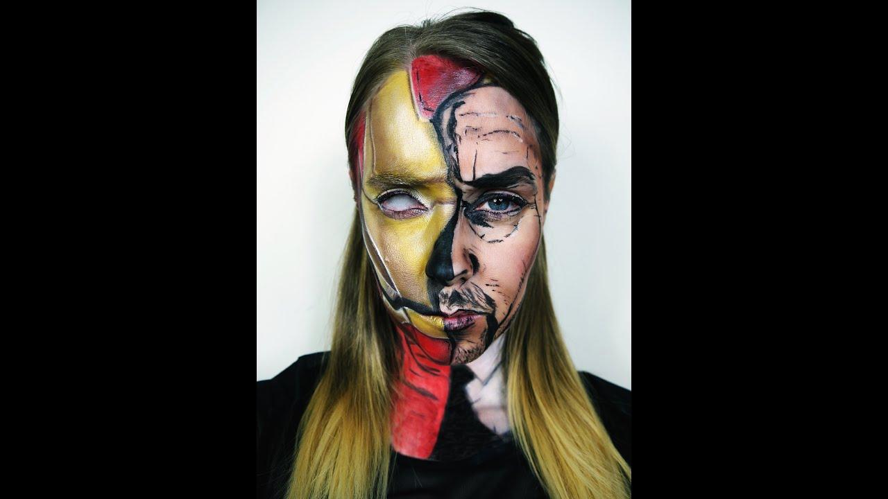 Man Youtube Makeup Gurus: IRON MAN MAKEUP