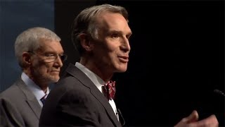 Repeat youtube video Bill Nye Ken Ham Debate Summed Up In Two Very Telling Answers