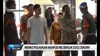 Menko Polhukam Mahfud MD Jenguk Cucu Jokowi