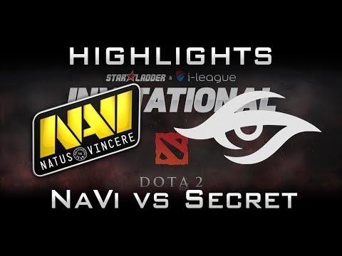 NaVi vs Secret [EPIC] Starladder 2017 Minor Highlights Dota 2