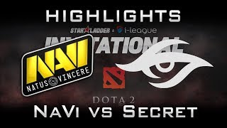 NaVi vs Secret [EPIC] Starladder 2017 Minor Highlights Dota 2