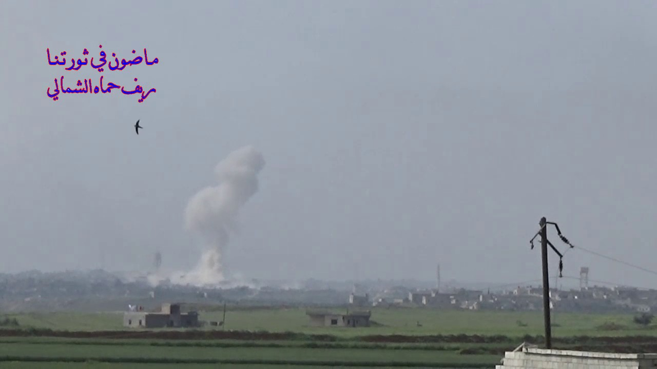 Video of another airstrike on Halfaya, Nothern Hama