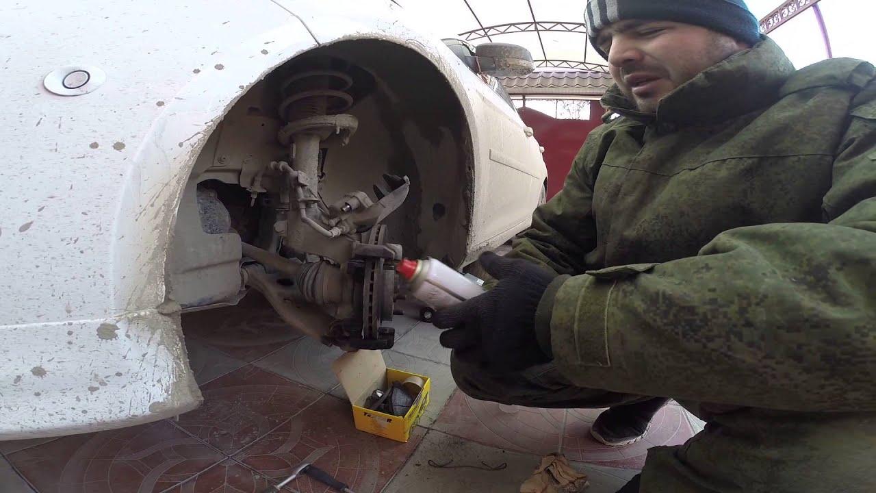 Замена передних тормозных колодок форд фокус 3 - YouTube