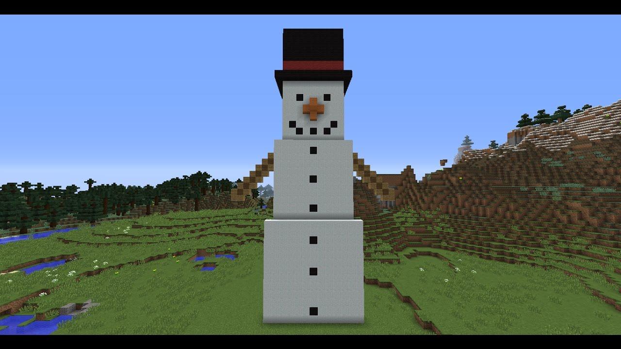 как сделать большого снеговика в майнкрафте 1.12 0. #6