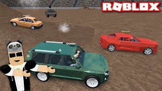 Most powerful cars We!! -With Panda Roblox Car Crushers 2
