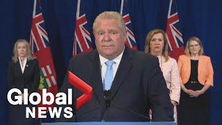 Coronavirus outbreak: Ontario Premier Ford addresses 'horrific' military report on care homes | FULL