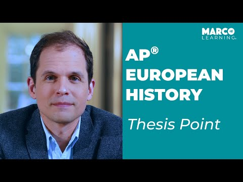 AP European History: Breaking Down The Thesis Point With John Moscatiello