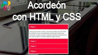 Acordeon con html y css