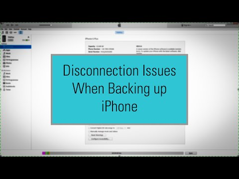 iTunes - How to Fix iPhone Backup Disconnection Problem
