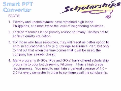 Scholarship for Filipinos (Free)