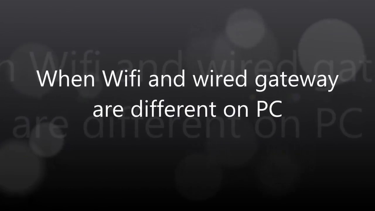 0402 PC and WIFI Camera setting When wifi and wired gateway are ...