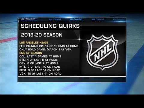 NHL Tonight: Schedule Quirks: Breaking Down A Few Scheduling Quirks For Next Season  Jun 25,  2019