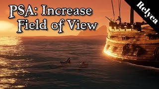 Sea of Thieves starts you off in a fairly narrow field of view. Thi...