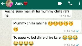 😍double meaning gf bf chat funny😂| hot♥️😍💏 non veg conversation
