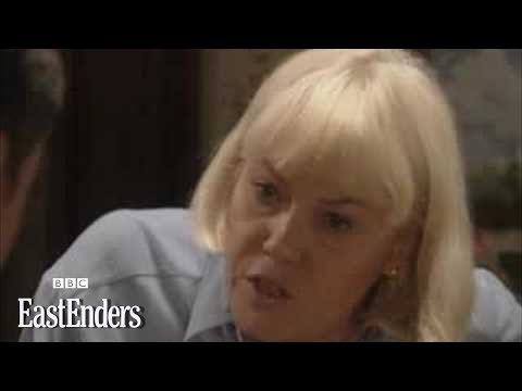 Pauline hits Arthur with a frying pan  EastEnders  BBC