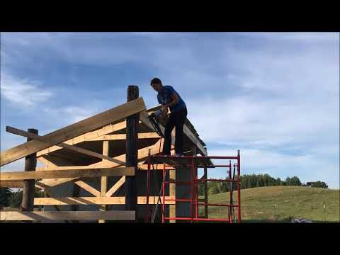 How To Build A Shed Barn Lean-to Time Lapse For Cattle Farming Cows