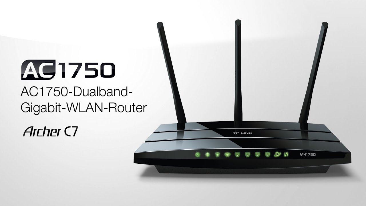 Archer C7, AC1750-Dualband-Gigabit-WLAN-Router - YouTube