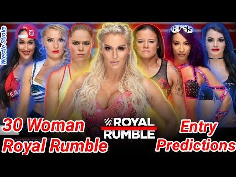 WWE 30 Woman Royal Rumble 2020 Entry Predictions - WWE Royal Rumble Womens Entry Predictions