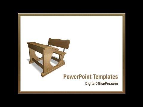school desk in a classroom powerpoint template backgrounds, Modern powerpoint