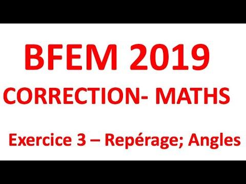 Bfem 2019 Corrige Maths Exercice 3 Youtube