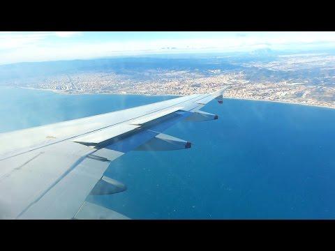 British Airways A319 G-DBCH Windy Landing at Barcelona El Prat Airport