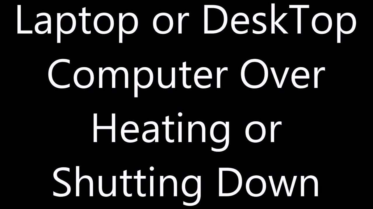 how to stop laptop heating