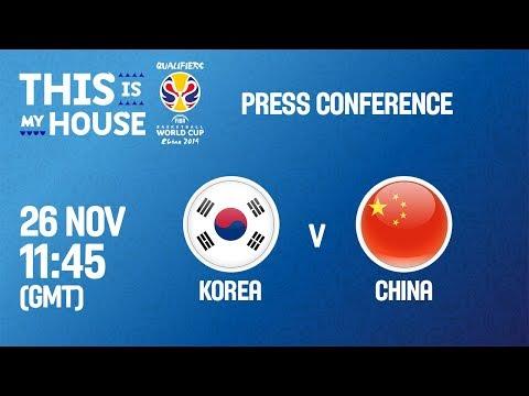 Korea v China - Press Conference - FIBA Basketball World Cup 2019 - Asian Qualifiers