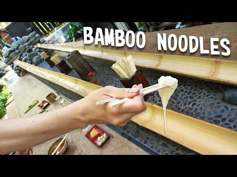 Flowing Japanese Bamboo Noodles | Nagashi Somen
