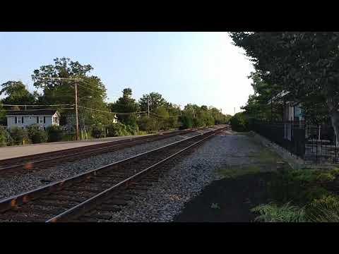 CSX road slug leading this Northbound mixed manifest on track two
