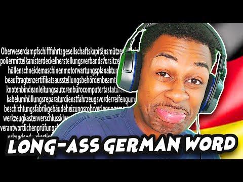 AMERICAN REACTS TO ONE MINUTE LONG GERMAN WORD | The Eternal German Word