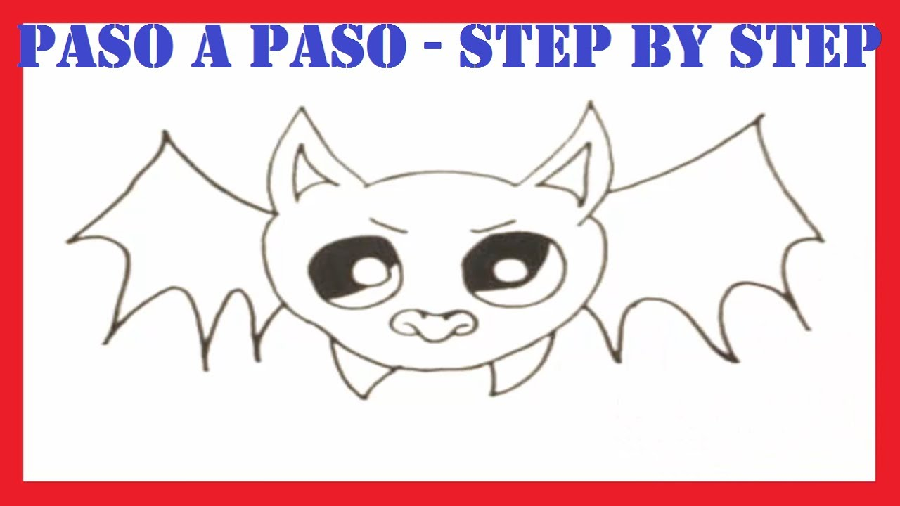 Como dibujar un murciélago l How to draw a bat l Halloween - YouTube