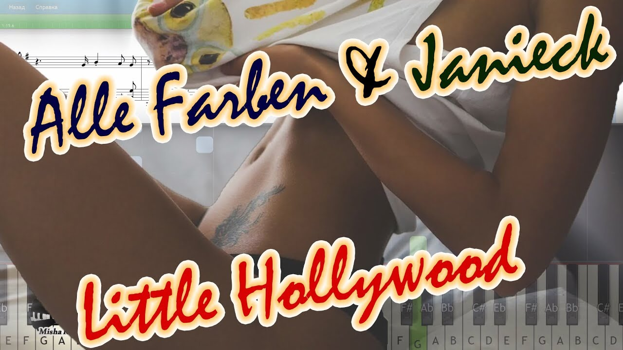 Alle Farben & Janieck - Little Hollywood [Piano Tutorial   Sheets ...