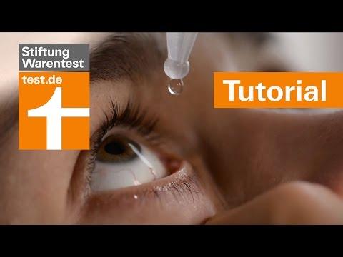 Tutorial: Augentropfen richtig anwenden - Tipps & Test der Stiftung Warentest