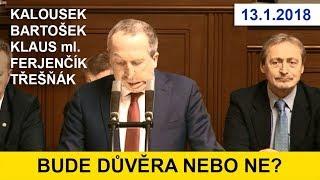 Diskuze PSČR před hlasováním o důvěře vládě A.Babiše / 1.část