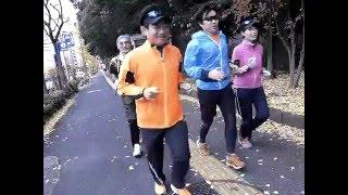 2015/12/6晴の寒い日、品川走遊会の7人が、赤穂浪士たちが吉良邸に討ち...