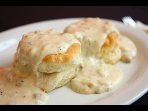 how to make manly home made biscuits and sausage gravy